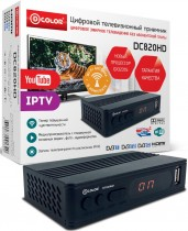 ТВ приставка DVB-T2 D-Color DC820HD - Интернет-магазин - RegionRF - Екатеринбург